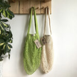Τσάντα δίχτυ με μακριά λαβή από βιολογικό βαμβάκι – Natural
