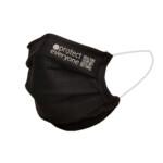 100% οργανική βαμβακερή μάσκα προσώπου 3 στρώσεων Μαύρο