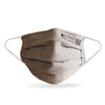 100% οργανική βαμβακερή μάσκα προσώπου 3 στρώσεων Γκρι
