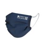 100% οργανική βαμβακερή μάσκα προσώπου 3 στρώσεων Μπλε