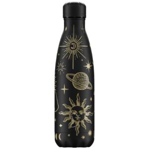 Chilly's ανοξείδωτο ισοθερμικό μπουκάλι Mystic Black 500ml