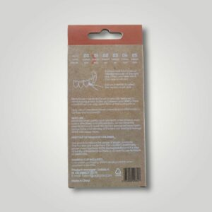 Bemyflower μεσοδόντια από φυσικό μπαμπού Orange 0.45mm
