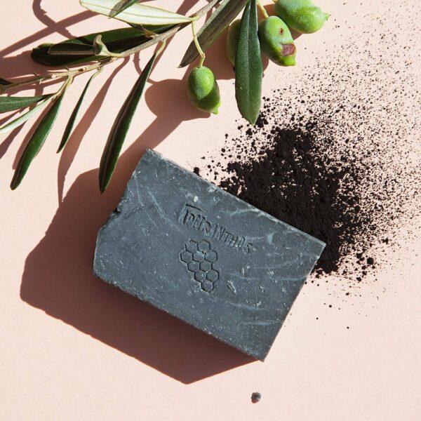 Apeiranthos Detox soap | Charcoal + Tea tree 100gr