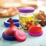 Food Huggers καπάκια σιλικόνης τροφίμων set of 5 Bright Berry