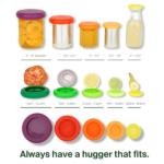 Food Huggers καπάκια σιλικόνης τροφίμων set of 3 Big Hugs Soft Green