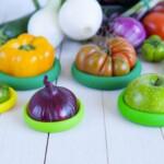 Food Huggers καπάκια σιλικόνης τροφίμων set of 5 Greens