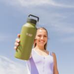 Healthy Human ανοξείδωτο ισοθερμικό παγούρι Olive 32oz (946ml)
